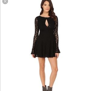 Free People Teen Witch fit and flare black lace